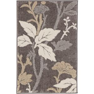 Home Decorators Collection Blooming Flowers Gray 5 Ft X 7 Ft Area