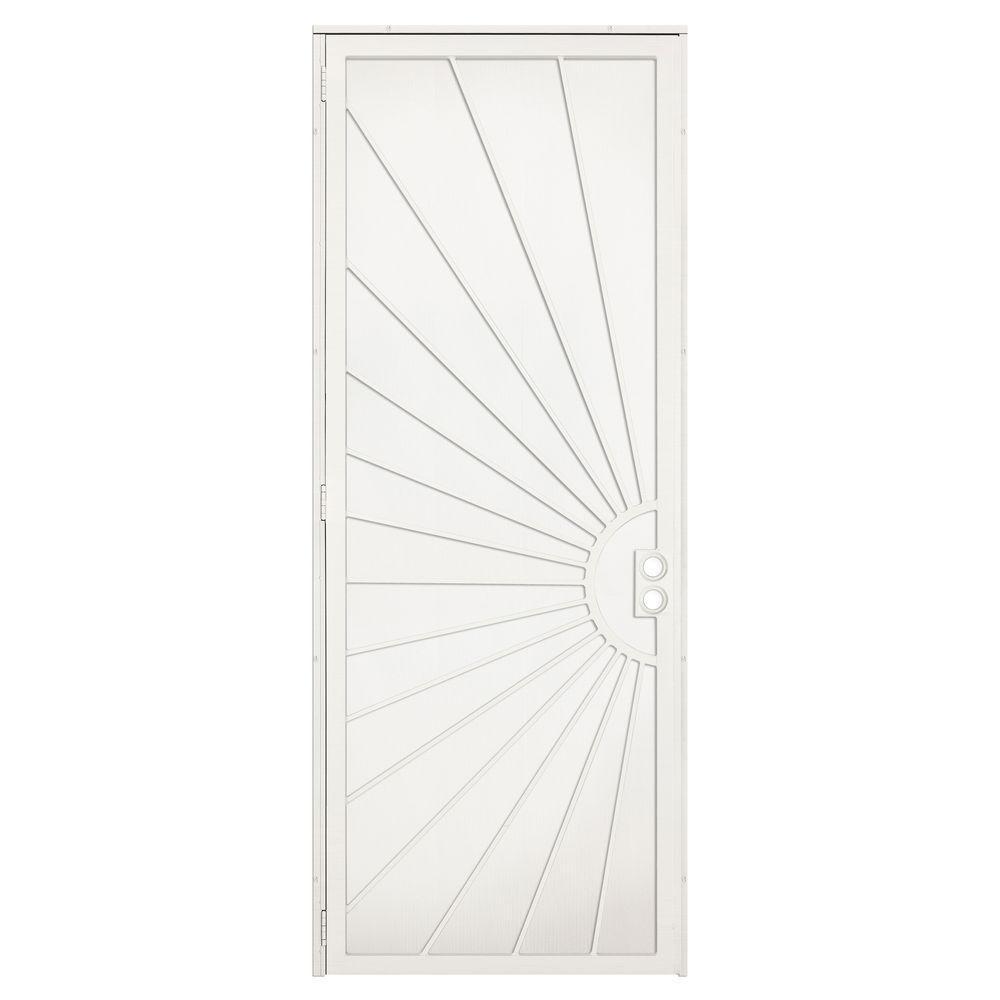 unique home designs 36 in  x 96 in  solana navajo white surface mount left