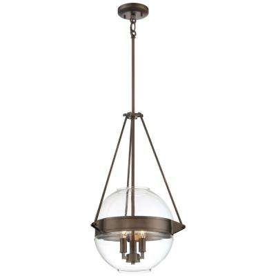 Clear bronze minka lavery pendant lights lighting the atrio collection 3 light harvard court bronze finish pendant 155 in with clear glass aloadofball Gallery