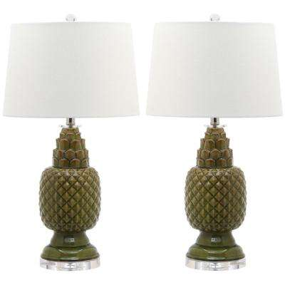 Blakely 28 in. Spring Green Table Lamp (Set of 2)