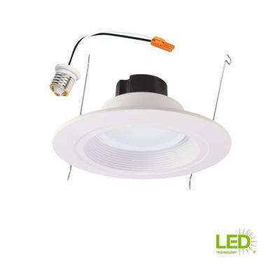 RL 5 in. and 6 in. White Integrated LED Recessed Retrofit Ceiling Light Fixture at 885 Lumens, 90 CRI, 3000K Soft White
