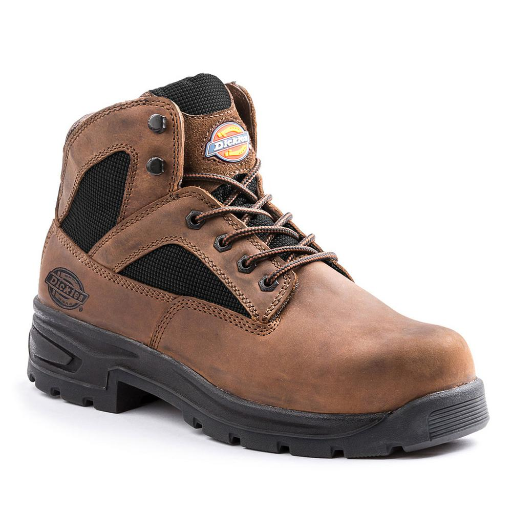 f62ef7f9a68 Dickies Buffer Men Size 13 Brown Leather Steel Toe Work Boot