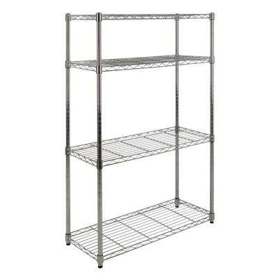 Ryan 53 in. 4-Shelf Wire Rack, Chrome