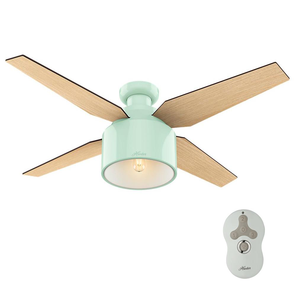 Hunter cranbrook 52 in led low profile indoor gloss black ceiling this review is fromcranbrook 52 in led low profile indoor mint ceiling fan aloadofball Image collections