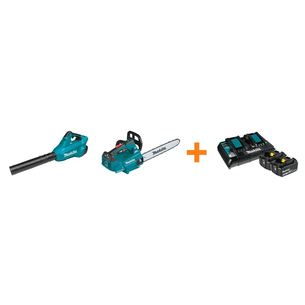 Makita 18V X2 LXT Blower and 18V X2 LXT 16 in. Top Handle Chain Saw with bonus 18V LXT Starter Pack was $857.0 now $578.0 (33.0% off)