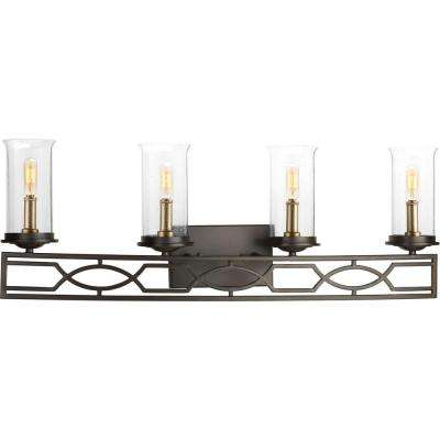 Soiree Collection 4-Light Antique Bronze Bathroom Vanity Light