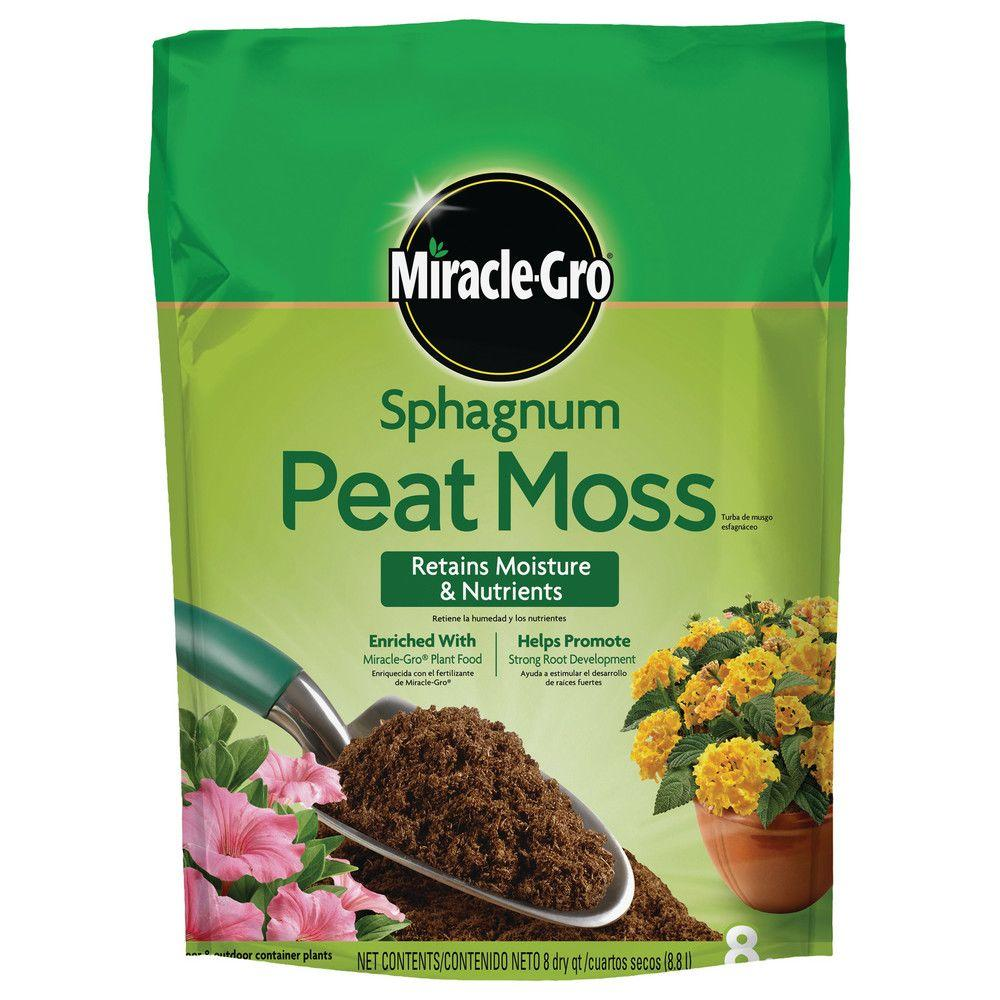 Miracle gro sphagnum peat moss 85278430 the home depot - Home depot miracle gro garden soil ...