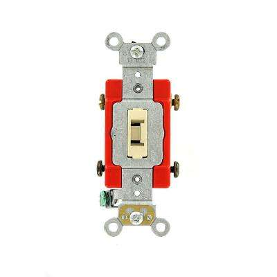 20 Amp Industrial Grade Heavy Duty Double-Pole Locking Switch, Ivory