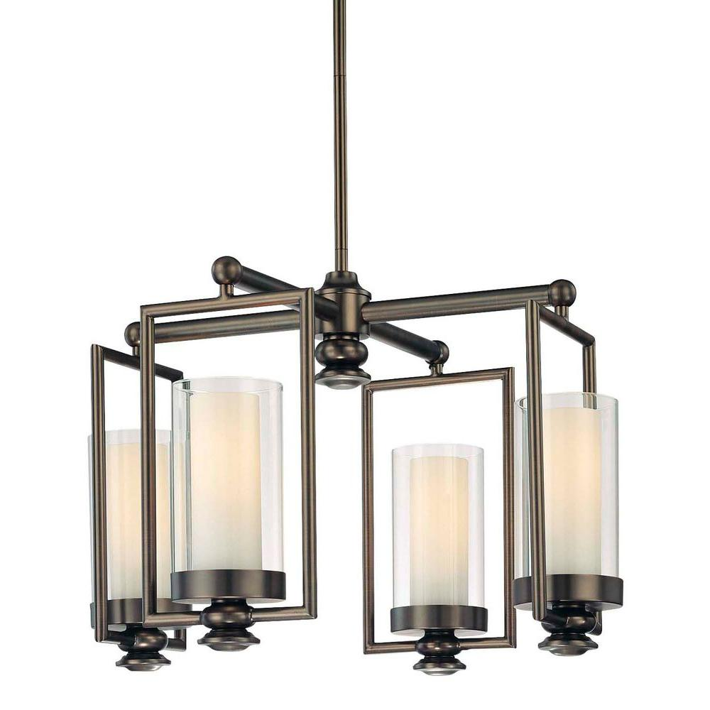 Minka Lavery Harvard Court 4-Light Harvard Court Bronze Mini Chandelier