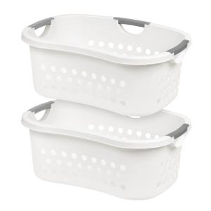 Comfort Carry Laundry Basket in White (2-Pack)