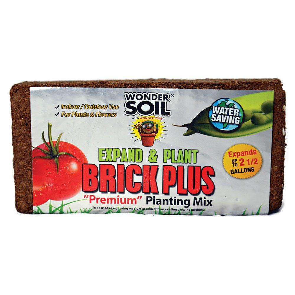 WONDER SOIL 2-1/2 Gal. Brick Plus Premium Planting Complete Coco Mix