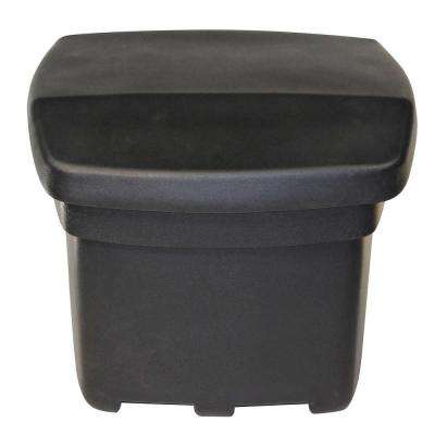 5 cu. ft. Outdoor Sand and Salt Storage Bin in Black