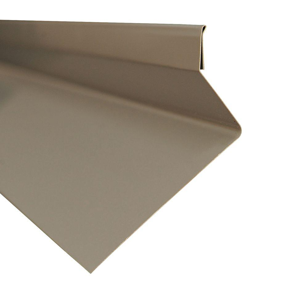Metal Sales 4.25 in. x 10.5 ft. Drip Edge Flashing Cap in Charcoal