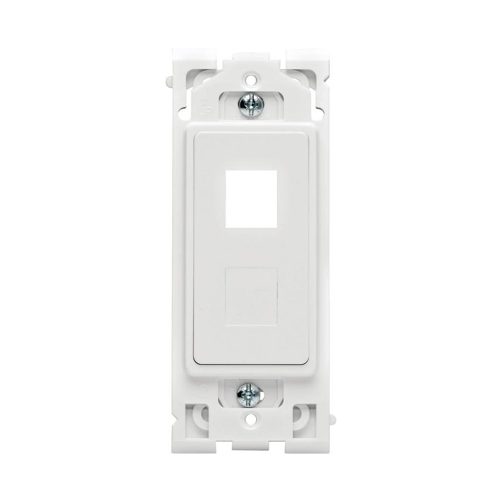 Leviton Renu QuickPort 2-Port Wall Plate Insert - White on White-DISCONTINUED
