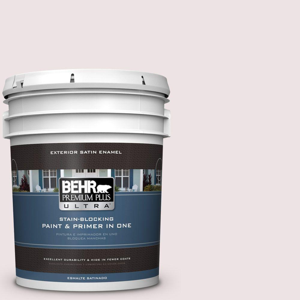 BEHR Premium Plus Ultra 5-gal. #110E-1 Whimsical White Satin Enamel Exterior Paint