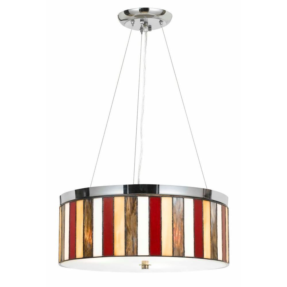 CAL Lighting 1-Light Hardwire Ceiling Mount Chrome Pendant
