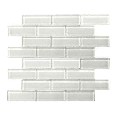 Mardi Gras La Salle White 12 in. x 12 in. x 6 mm Glass Mesh-Mounted Mosaic Tile (10 sq. ft. / case)