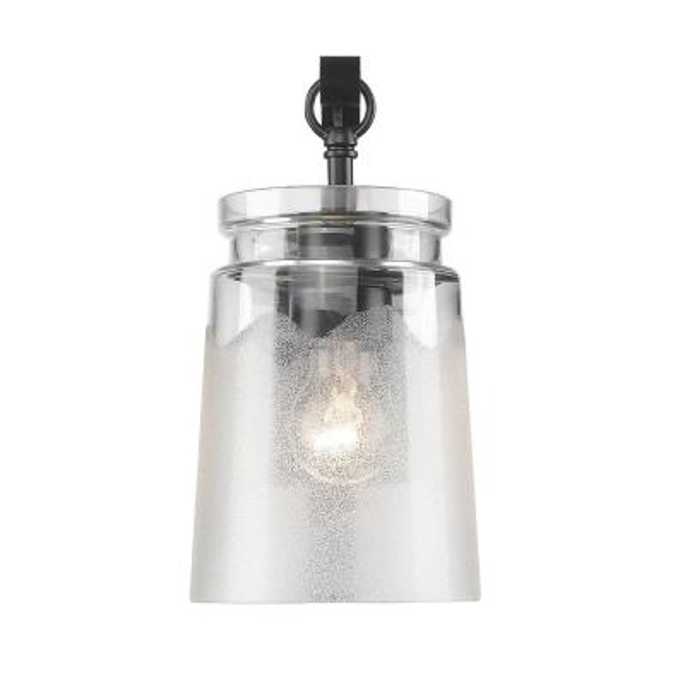 Travers 1-Light Black Bath Light