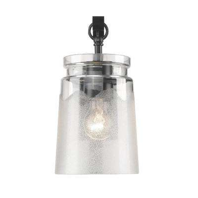 Travers 1-Light Black Bath Light