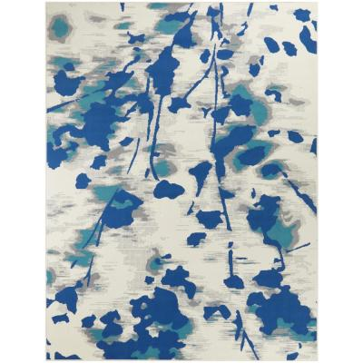Veronica Blue 8 ft. x 10 ft. Watercolor Area Rug