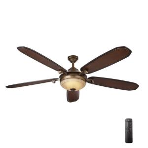 Home Decorators Collection Amaretto 70 inch LED Indoor French Beige Ceiling Fan... by Home Decorators Collection