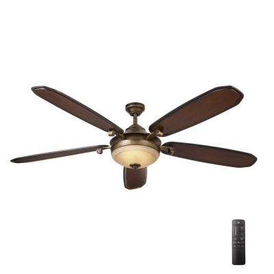 Led indoor french beige ceiling fan with light kit and remote control