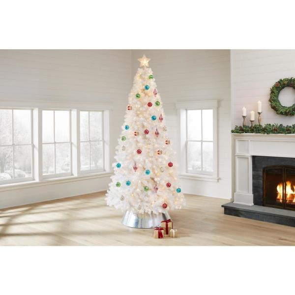 Home Accents Holiday 9 Ft Uptown Noble Fir Led Pre Lit Artificial Christmas Tree With 900 Color Changing Micro Dot Lights With 8 Functions W14n0148 The Home Depot