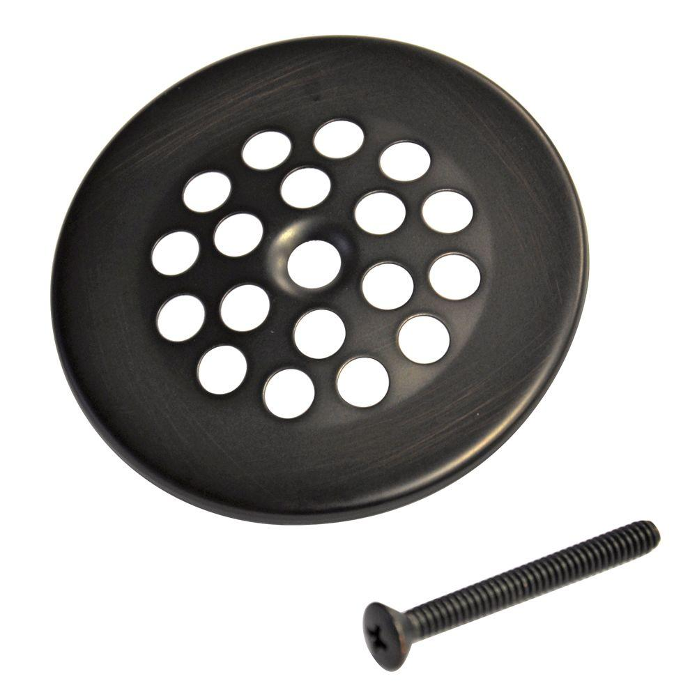 2-7/8 in. Bath Grid Strainer with Screw in Oil Rubbed Bronze