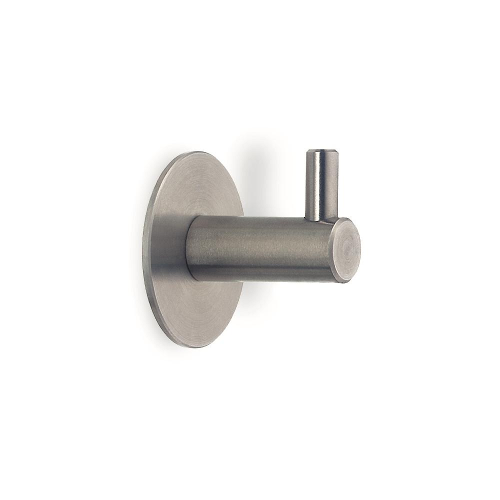 Satin stainless steel wall mounted hook - L Brushed Stainless Steel Wall Hook 53651 The Home Depot