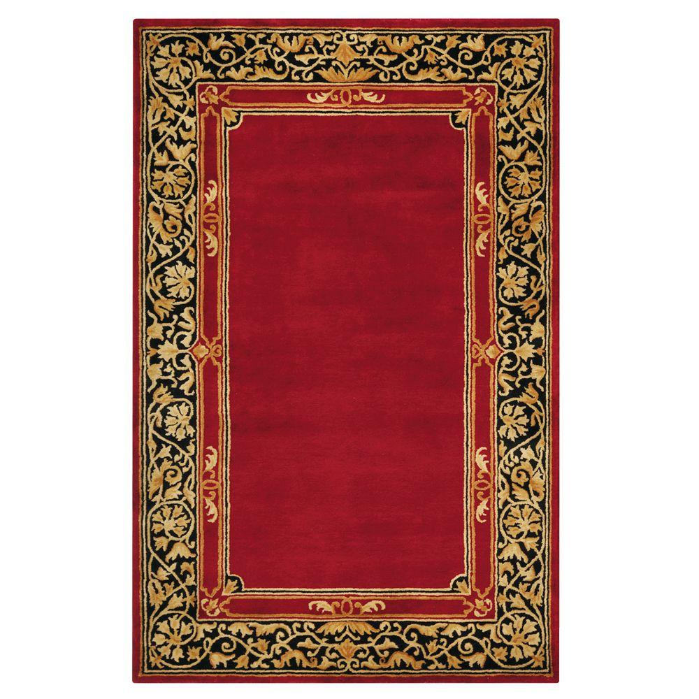 Home Decorators Collection Churchill Red 3 ft. 6 in. x 5 ft. 6 in. Area Rug