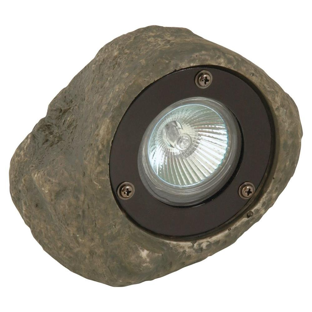 Moonrays Low Voltage 20 Watt Poly Resin Outdoor Landscape Rock Spot Light