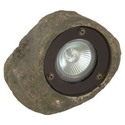 Low Voltage 20-Watt Grey Outdoor Rock Spotlight