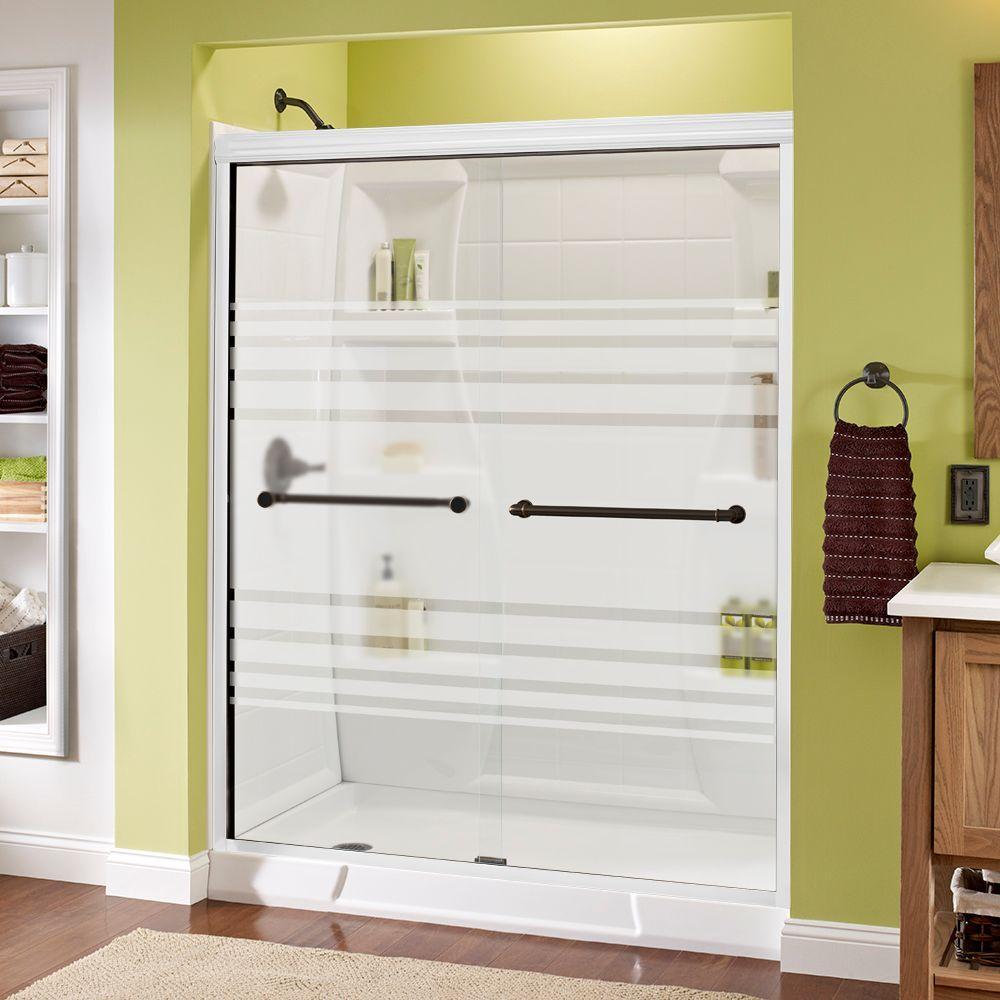 48 frameless sliding shower door images