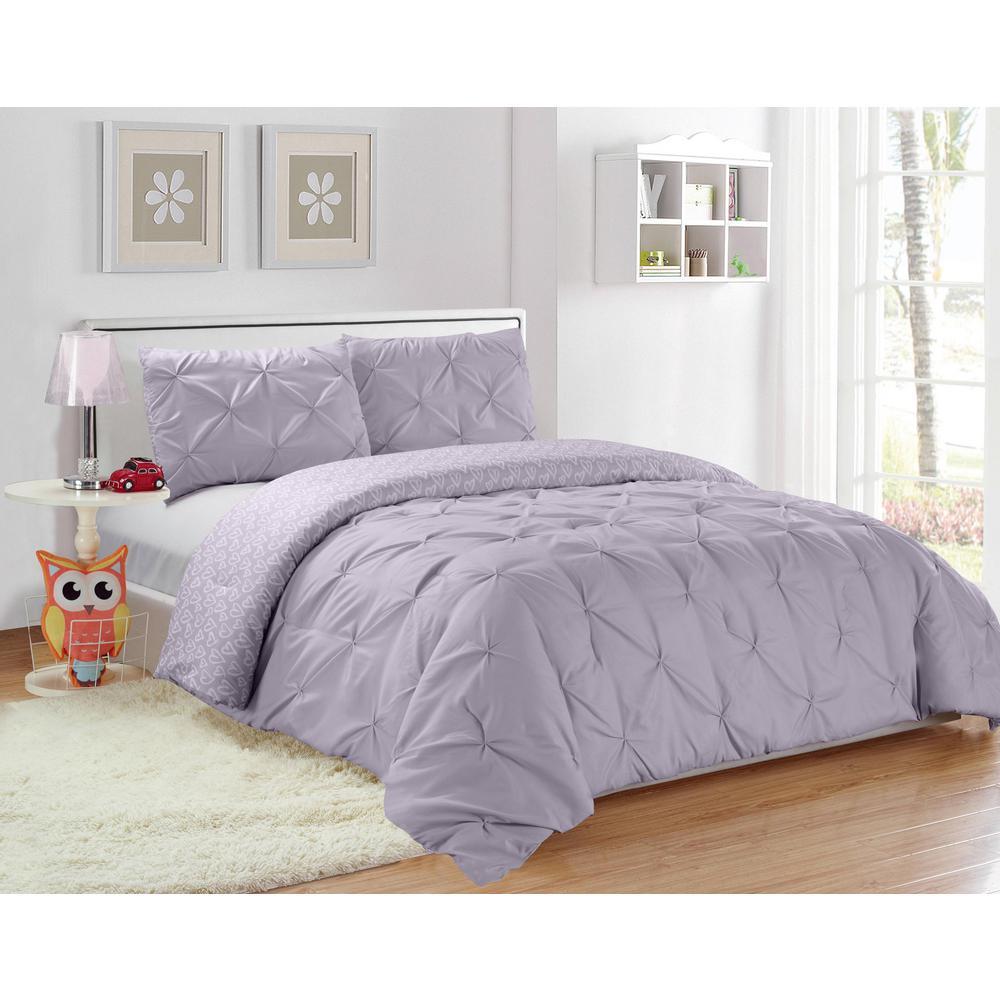Ferrah 2-Piece Twin Duvet Set in Lavender