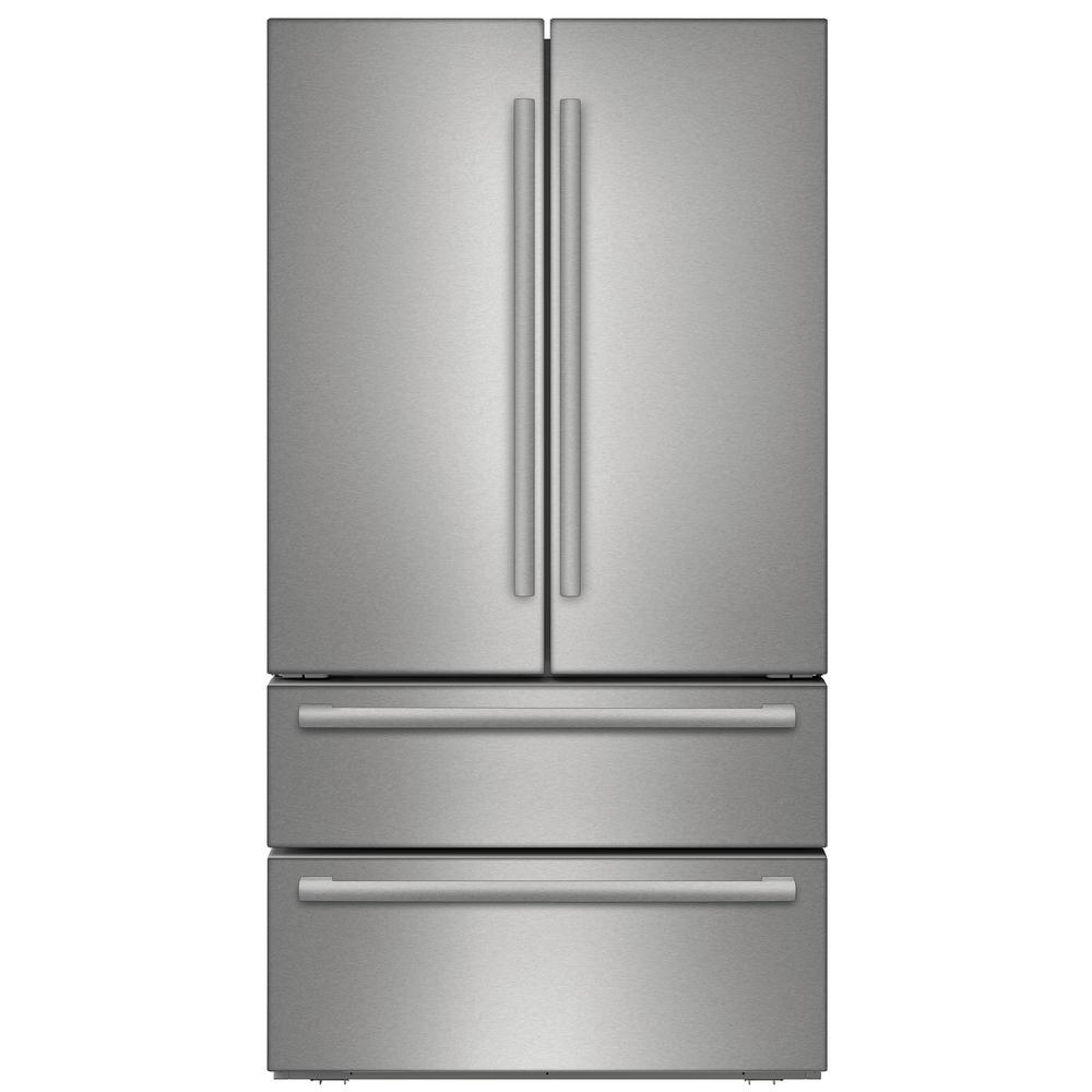 20 Cu Ft French Door Refrigerator: Bosch 800 Series 36 In. 20.7 Cu. Ft. French Door Refrigerator In Stainless Steel With 2 Freezer
