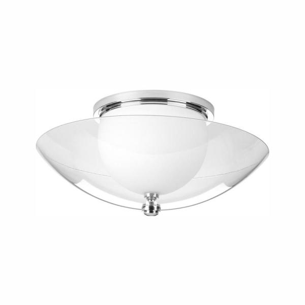 Fortune Collection 17-Watt Polished Chrome Integrated LED Flush Mount