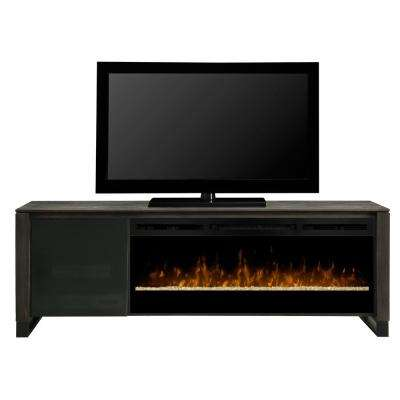 Howden 75 in. Electric Fireplace TV Stand Media Console in Cape Cod Finish