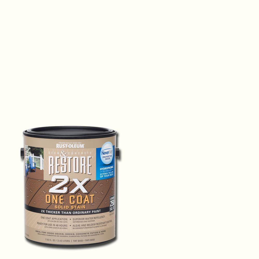 Rust-Oleum Restore 5 gal. 2X White Solid Deck Stain with NeverWet ...
