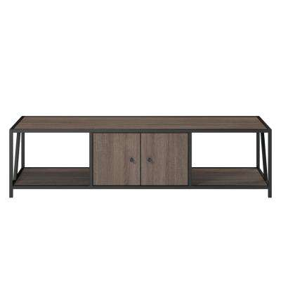 65 in. Harmony Weathered Oak TV Stand