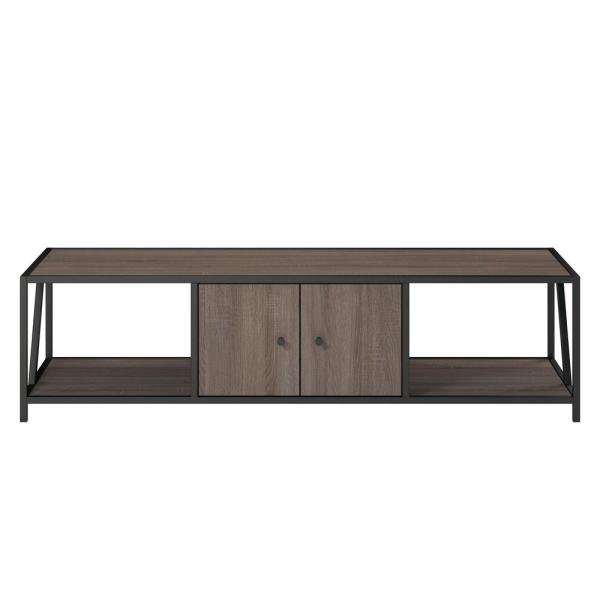 Ameriwood 65 in. Harmony Weathered Oak TV Stand HD93743