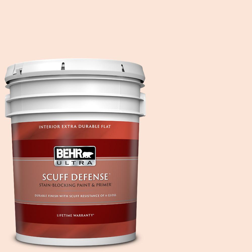 Behr Ultra 5 Gal 210a 1 Cool Cream Extra Durable Flat Interior Paint Primer 172005 The Home Depot