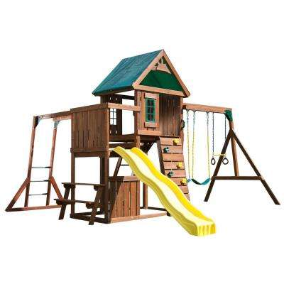Chesapeake Deluxe Wood Complete Swing Set with Chalkboard