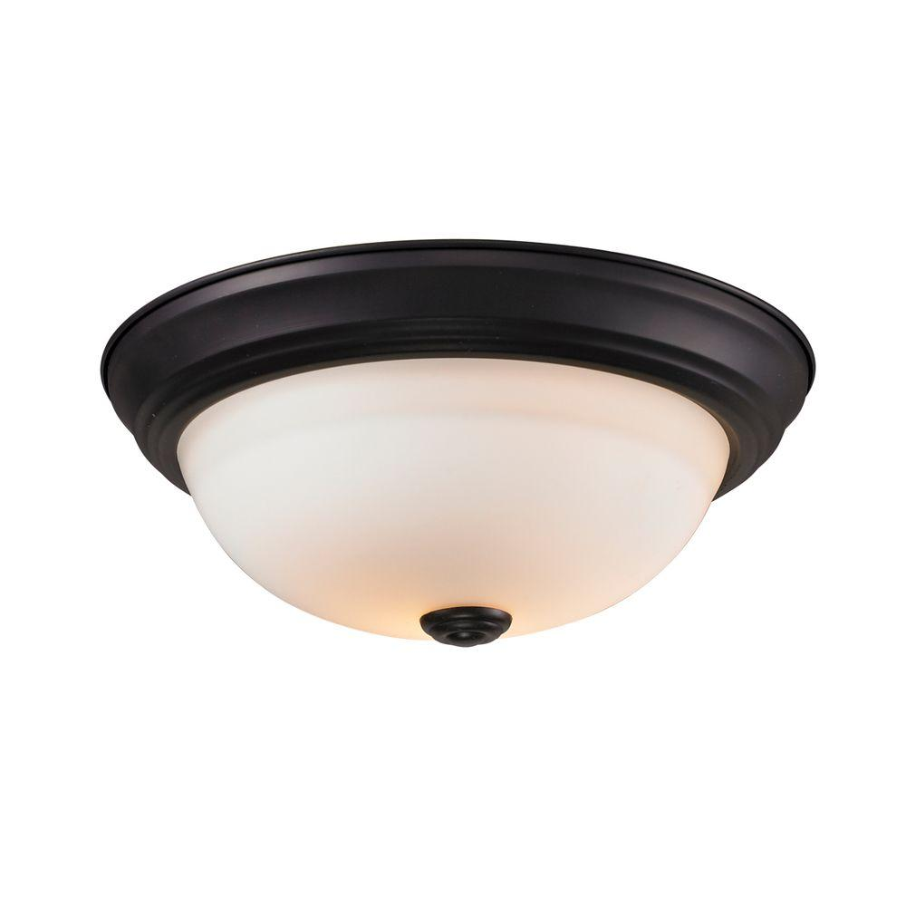 Filament Design Lawrence 3-Light Bronze Incandescent Ceiling Flushmount
