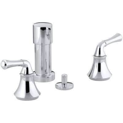 Forte 2-Handle Bidet Faucet in Polished Chrome with Traditional Lever Handles