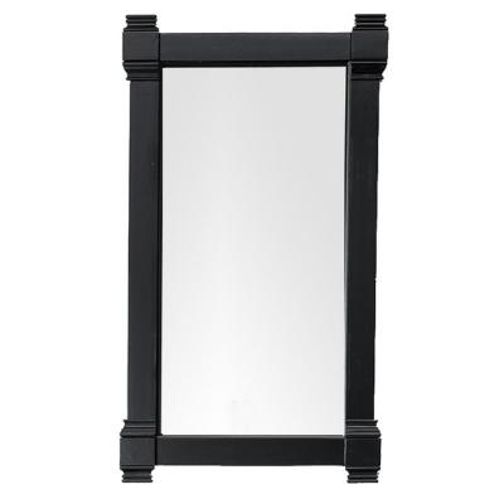 Brittany 22 in. W x 39.25 in. H Framed Wall Mirror in Black Onyx