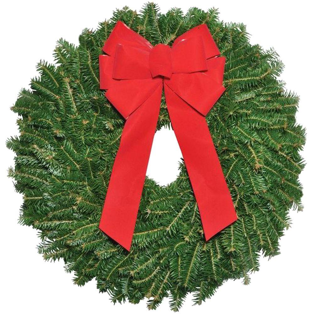 Very 22 in. Fraser Fir Wreath with Bow (In-Store Only)-10003 - The Home  DX67