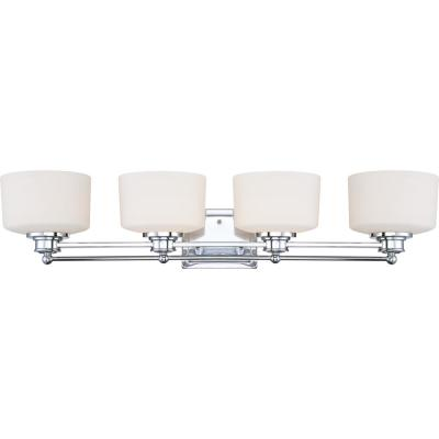 Amelia 4-Light Polished Chrome Bath Vanity Light