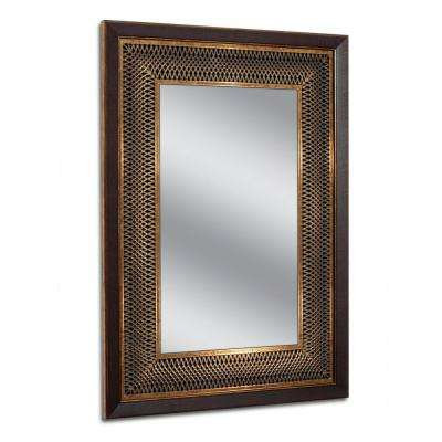 24.75 in. W x 34.75 in. H Copper Bronze Park Avenue Wall Mirror