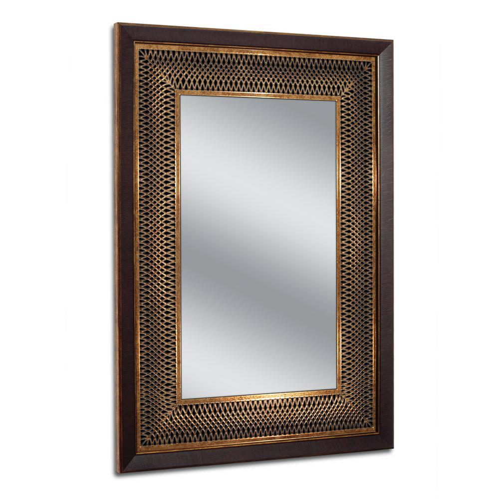 24.75 in. W x 34.75 in. H Copper Bronze Park Avenue Wall Mirror
