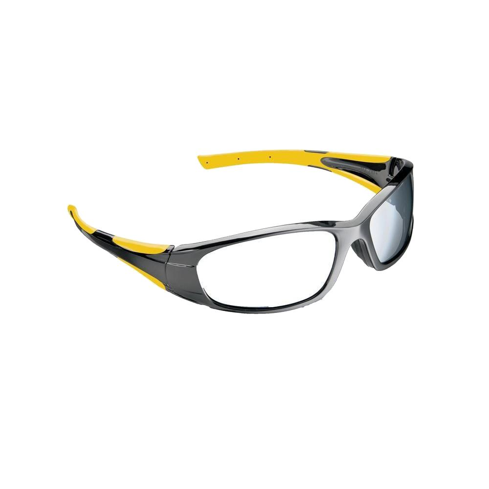 Holmes Workwear Black Frame with Yellow Accents Tinted Scratch Resistant Lenses